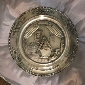 Exquisitely detailed plate. Engrave and hang up